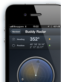 Navizon App for your smartphone